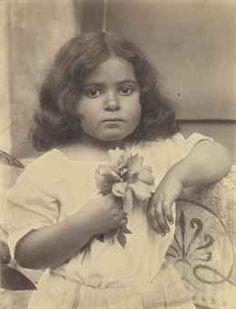 BARON WILHELM VON GLOEDEN (1856-1931) Portrait of A Young Sicilian Girl, c. 1916 albumen print
