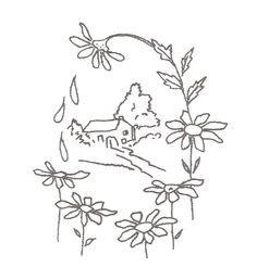 1930 embroidery pattern sunflowers