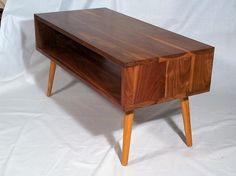 Mid century modern teak drop leaf folding table with