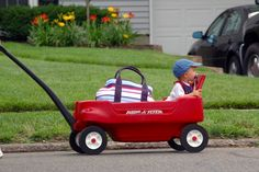 Aww never had one of these    classic red wagons little kids