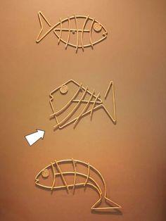 Pañuelos Familia® Chic Metallic. Un Toque Chic que le dará brillo a cualquier lugar. Metal Art Projects, Welding Projects, Wire Crafts, Metal Crafts, Metal Fish, Fish Sculpture, Copper Art, Scrap Metal Art, Junk Art