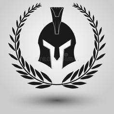 Altgriechisches Tattoo, Helmet Tattoo, Helmet Logo, Tribal Chest Tattoos, Sun Tattoo Tribal, Spartan Spear, Spartan Helmet, Centurion Helmet, Protection Tattoo