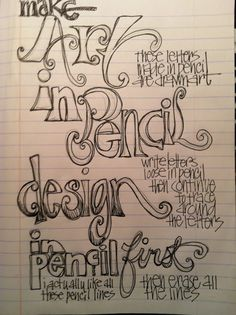 First Friday Art Class for February 2015 - 3 Types of Lettering ...