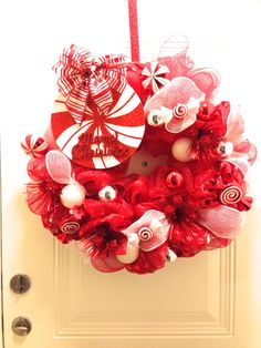 Christmas Wreath Peppermint Candy (Etsy)