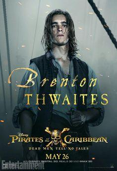 Brenton Thwaites as Henry Turner in Pirates of the Caribbean: Dead Men Tell no Tales! YESSSSS