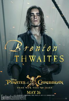 Brenton Thwaites as Henry Turner in Pirates of the Caribbean: Dead Men Tell no Tales