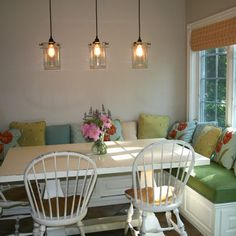 Upholstered Banquette Seat Design, Pictures, Remodel, Decor and Ideas - page 13