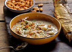 """New cookbook: """"American Flavor"""" explores roots-inspired American cuisine Walleye Recipes, Fish Recipes, Seafood Recipes, Great Recipes, Soup Recipes, Sausage Rigatoni, Fish Chowder, Smoked Fish, Spicy Sausage"""