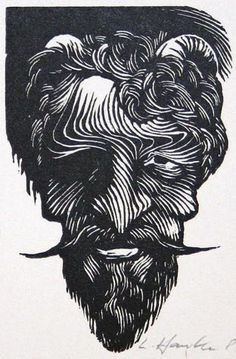 Ladislav R. HANKA. Mephistopheles. Woodengraving.