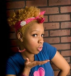 Afro with Headband | Black Women Natural Hairstyles