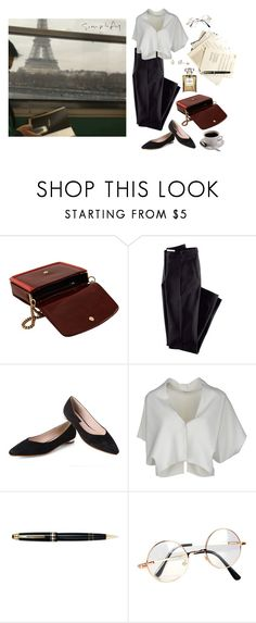 """A Day in Paris"" by sweetlikecinnamonnn ❤ liked on Polyvore featuring STELLA McCARTNEY, H&M, Vionnet, Mont Blanc and Retrò"