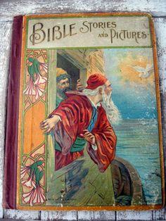 Antique vintage book for children by LittleBeachDesigns