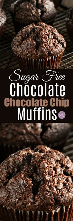 The Recipe for Tasty Sugar Free Chocolate Chocolate Chip Muffins FABULOUS and YUMMY! Oh and these are sugar free too! Diabetic Friendly Desserts, Low Carb Desserts, Diabetic Recipes, Dessert Recipes, Diabetic Foods, Diabetic Muffins, Diabetic Cake, Pre Diabetic, Jelly Recipes