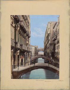 Anonymous   Brug der Zuchten en Palazzo Ducale in Venetië, Anonymous, 1850 - 1876   Onderdeel van Reisalbum met foto's en tekeningen van Manuel Mayo 1876.