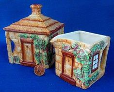 Teapot And More Six Piece Set Keele Street Pottery Cottageware Biscuit Jar