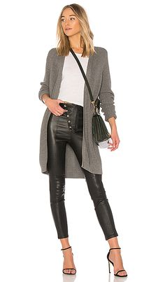 Shop for 525 america Open Front Cardigan in Charcoal at REVOLVE. Free 2-3 day shipping and returns, 30 day price match guarantee.