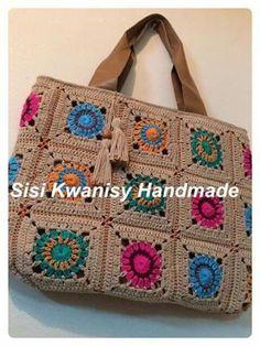 Crochet Beach Dress, Love Crochet, Crochet Flowers, Granny Square Crochet Pattern, Crochet Squares, Crochet Patterns, Crochet Lingerie, Handmade Handbags, Tear