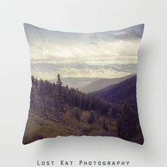 Epic Mountain photographie oreiller, coussin moderne, Rocheuses, décor infini paysage, Wyoming
