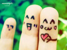 finger people in love