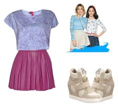 """A Style From VIOLETTA SEASON 3"" by bluechrysalis ❤ liked on Polyvore featuring Ash, Alice + Olivia, Boohoo, women's clothing, women, female, woman, misses and juniors"