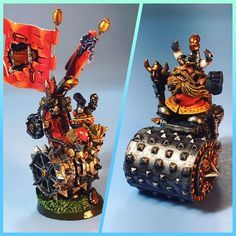 I also have two death rollers to sell. The classic one on the right is $45. The special edition one on the left is $90. Shipping extra outside of the US. DM me if interested. #dwarf #dwarves #dwarfteam #bloodbowl #bloodbowlteams #gw #gamesworkshop #boardgames #tabletop #tabletopgames #tabletopboardgame #fantasyfootball #painting #paintjob #miniature #miniatures #miniaturepainting #nerd #nerdiness #forsale #deathroller #starplayer