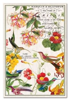 Elegant Michel Design Works Cotton Kitchen Towel, Flora Exotica. Bought 2 Of These  For My