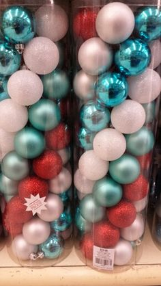 Hobby Lobby - Red White & Aqua Christmas Decor | A Trendy ...
