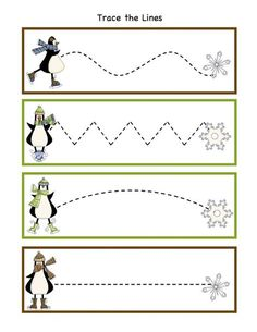 Preschool Printables: Winter You are in the right place about Winter Sports Preschool activities Here we offer you the most beautiful pictures about the Wi Preschool Writing, Preschool Themes, Preschool Printables, Kindergarten Worksheets, Tracing Worksheets, Nursery Worksheets, Winter Activities, Toddler Activities, Winter Thema
