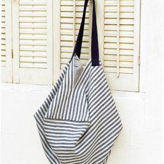 簡単にできる!夏にほしいストライプバッグの作り方(バッグ) | ぬくもり