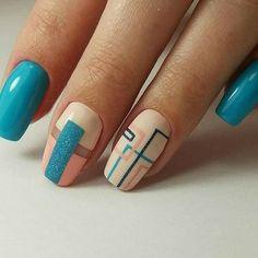 Nail art Christmas - the festive spirit on the nails. Over 70 creative ideas and tutorials - My Nails Beautiful Nail Designs, Beautiful Nail Art, Stylish Nails, Trendy Nails, Blue Nails, White Nails, Glitter Nails, Hair And Nails, My Nails