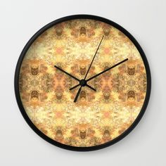 """Shimmer Burst Wall Clock 