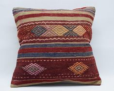 handwoven kilim pillow sofa pillow ethnic pillow home Sofa Throw Pillows, Boho Pillows, Kilim Pillows, Decorative Pillows, Hand Weaving, Pillow Covers, Ethnic, Bohemian, Cushion Pillow