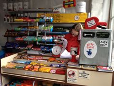 Lucy Sparrow and her cornershop where everything is made of felt, Shoreditch