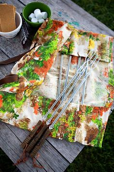 DIY personalized camping skewers.  perfect to pair with some BBQ rub!
