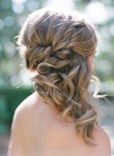 side pony bridesmaid style updo wedding