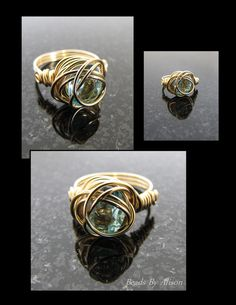 Aquamarine gold filled wire ring - An idea I put here for you, Brenda.