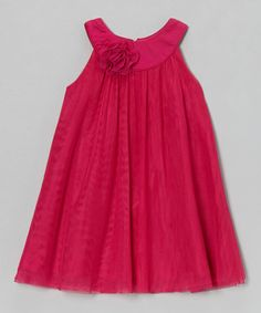 Take a look at this Fuchsia Amber Yoke Dress - Toddler & Girls by Dorissa on #zulily today!