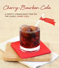 Signature Cocktail Cherry-Bourbon Cola by FloridianWeddings.com