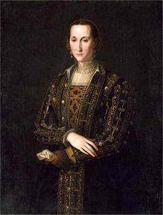 Agnolo Bronzino (copia da) - Eleonora di Toledo - 1560 - North Carolina Museum of Art Italian Outfits, Italian Fashion, European Fashion, Italian Clothing, Women's Clothing, Renaissance Garb, Italian Renaissance, Renaissance Portraits, Michelangelo
