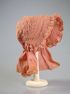 Bonnet (Sunbonnet)  Date: ca. 1840 Culture: American Medium: Cotton Credit Line: Brooklyn Museum Costume Collection at The Metropolitan Museum of Art