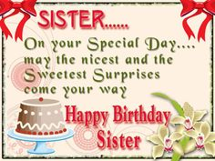 Happy Birthday Wishes for Sister | SayingImages.com