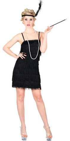 Charleston 1920s Style Flapper Ladies Fancy Dress Party Costume ...