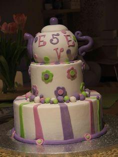 Tea Party Cake Theme Birthday Ideas