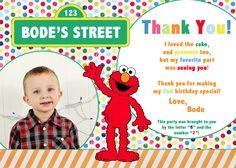 Elmo/Sesame Street Thank You cards via Abstract Grace