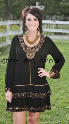 Swing In Your Step Black Dress  $49.95-52.95  Size: Small, Medium, Large, XL, 2XL, 3XL  http://www.giddyupglamouronline.com/catalog.php?item=6282