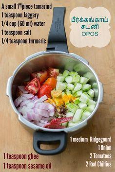 Peerkangai-Chutney-OPOS-Recipe-add-ingredients