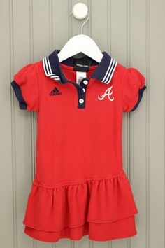 Adidas Atlanta Braves 4T Red Layered Dress