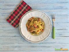 Troccoli alla carbonara con carciofi  #ricette #food #recipes