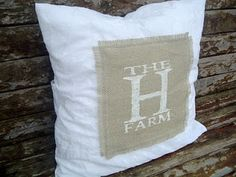 Monogrammed Burlap Pillow–by The Country Chic Cottage | The CSI Project