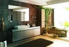 Safari Themed Bathroom | Jungle Themed Bathroom Design With Stone Wall By  Ivailo